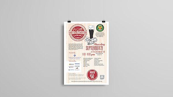 Shucking Good Time Logo Design Poster Design