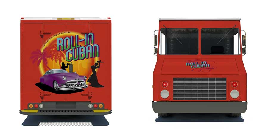 Logo Design Roll-In Cuban Food Truck