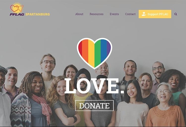 pflag spartanburg website design