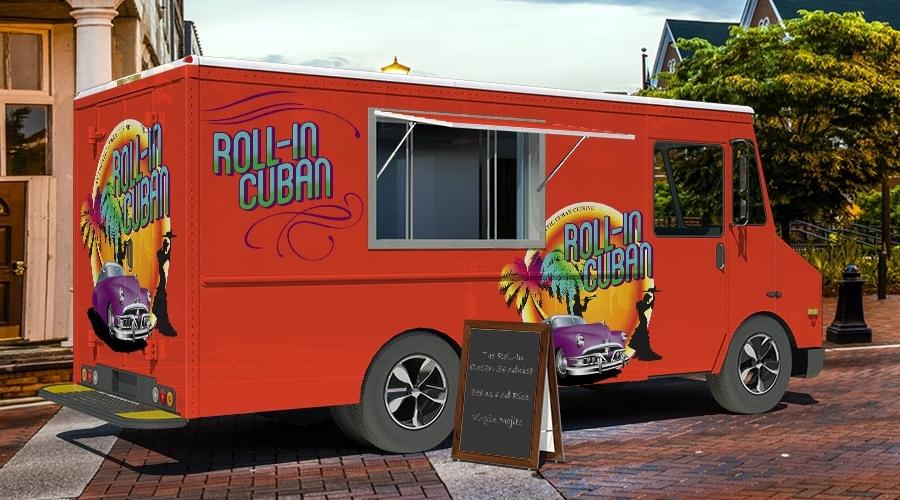 Roll-In Cuban Food Truck Branding