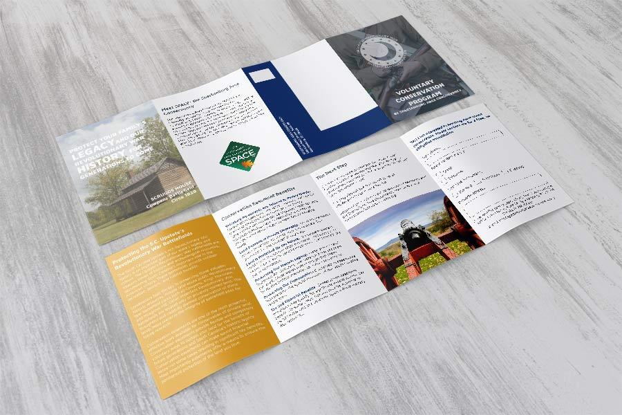Brochure Design Upstate Revolutionary War Battlefield Conservation
