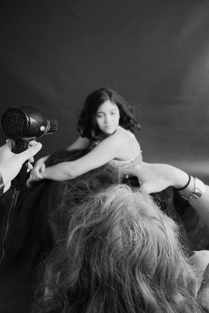 Samira portrait session behind the scenes