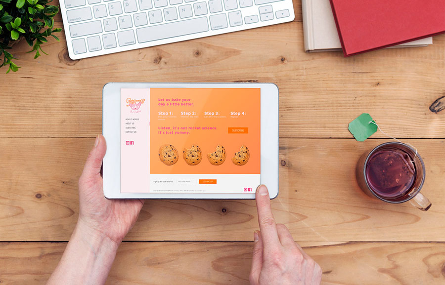 SassyPants & Pastries Subscription table mockup